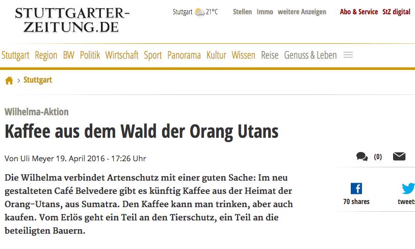 Stuttgarter Zeitung19.4.2016